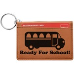 School Bus Leatherette Keychain ID Holder (Personalized)