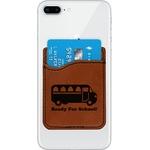 School Bus Leatherette Phone Wallet (Personalized)