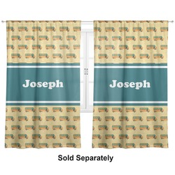 "School Bus Curtains - 20""x63"" Panels - Lined (2 Panels Per Set) (Personalized)"