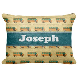 "School Bus Decorative Baby Pillowcase - 16""x12"" (Personalized)"