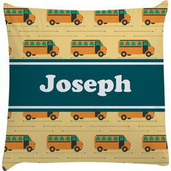 School Bus Decorative Pillow Case (Personalized)