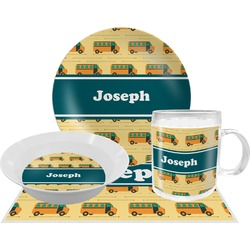 School Bus Dinner Set - 4 Pc (Personalized)