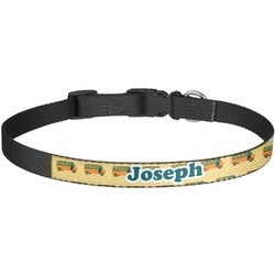 School Bus Dog Collar - Large (Personalized)