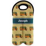 School Bus Wine Tote Bag (2 Bottles) (Personalized)