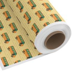 School Bus Custom Fabric - Spun Polyester Poplin (Personalized)