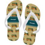 School Bus Flip Flops (Personalized)