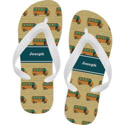School Bus Flip Flops - XSmall (Personalized)