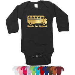School Bus Foil Bodysuit - Long Sleeves - Gold, Silver or Rose Gold (Personalized)