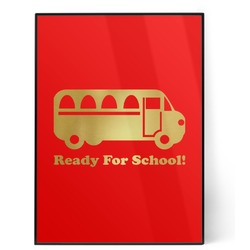 School Bus 5x7 Red Foil Print (Personalized)