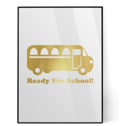 School Bus Foil Print (Personalized)