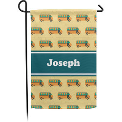 School Bus Garden Flag - Single or Double Sided (Personalized)