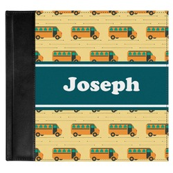 School Bus Genuine Leather Baby Memory Book (Personalized)
