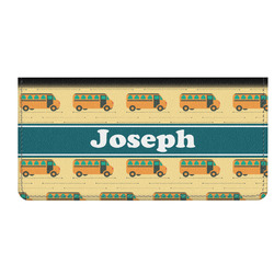 School Bus Genuine Leather Checkbook Cover (Personalized)