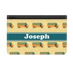 School Bus Genuine Leather ID & Card Wallet - Slim Style (Personalized)