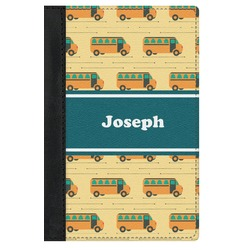 School Bus Genuine Leather Passport Cover (Personalized)