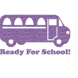 School Bus Glitter Sticker Decal - Custom Sized (Personalized)