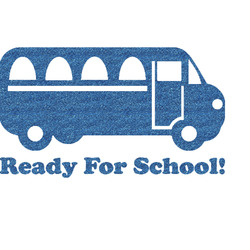 School Bus Glitter Sticker Decal - Custom Sized (Personalized)