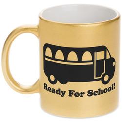 School Bus Gold Mug (Personalized)