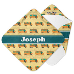 School Bus Hooded Baby Towel (Personalized)