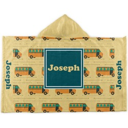 School Bus Kids Hooded Towel (Personalized)