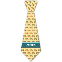 School Bus Iron On Tie (Personalized)