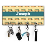 School Bus Key Hanger w/ 4 Hooks (Personalized)