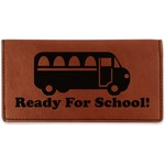School Bus Leatherette Checkbook Holder (Personalized)