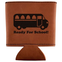School Bus Leatherette Can Sleeve (Personalized)