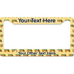 School Bus License Plate Frame (Personalized)