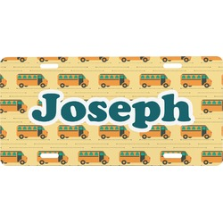 School Bus Front License Plate (Personalized)