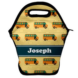 School Bus Lunch Bag w/ Name or Text