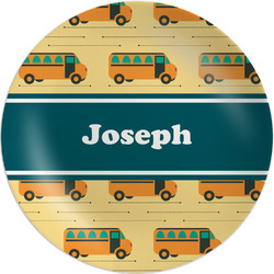 School Bus Melamine Plate - 8