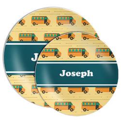 School Bus Melamine Plate (Personalized)