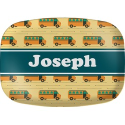 School Bus Melamine Platter (Personalized)