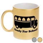School Bus Metallic Mug (Personalized)