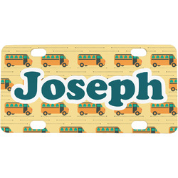 School Bus Mini / Bicycle License Plate (Personalized)