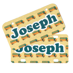 School Bus Mini/Bicycle License Plates (Personalized)