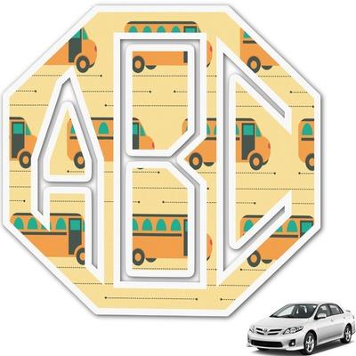 School Bus Monogram Car Decal (Personalized)