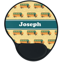 School Bus Mouse Pad with Wrist Support