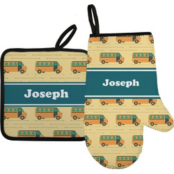 School Bus Oven Mitt & Pot Holder (Personalized)