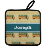 School Bus Pot Holder w/ Name or Text