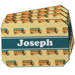 School Bus Dining Table Mat - Octagon w/ Name or Text