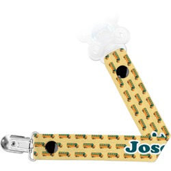 School Bus Pacifier Clips (Personalized)