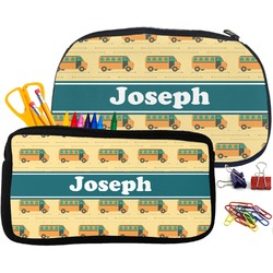 School Bus Pencil / School Supplies Bag (Personalized)
