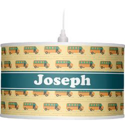 School Bus Drum Pendant Lamp (Personalized)