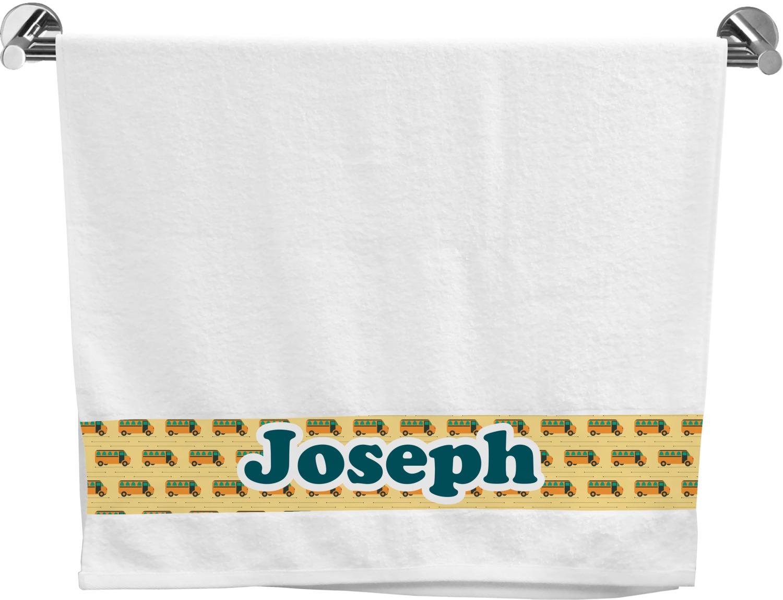 School Bus Bath Towel Personalized Youcustomizeit