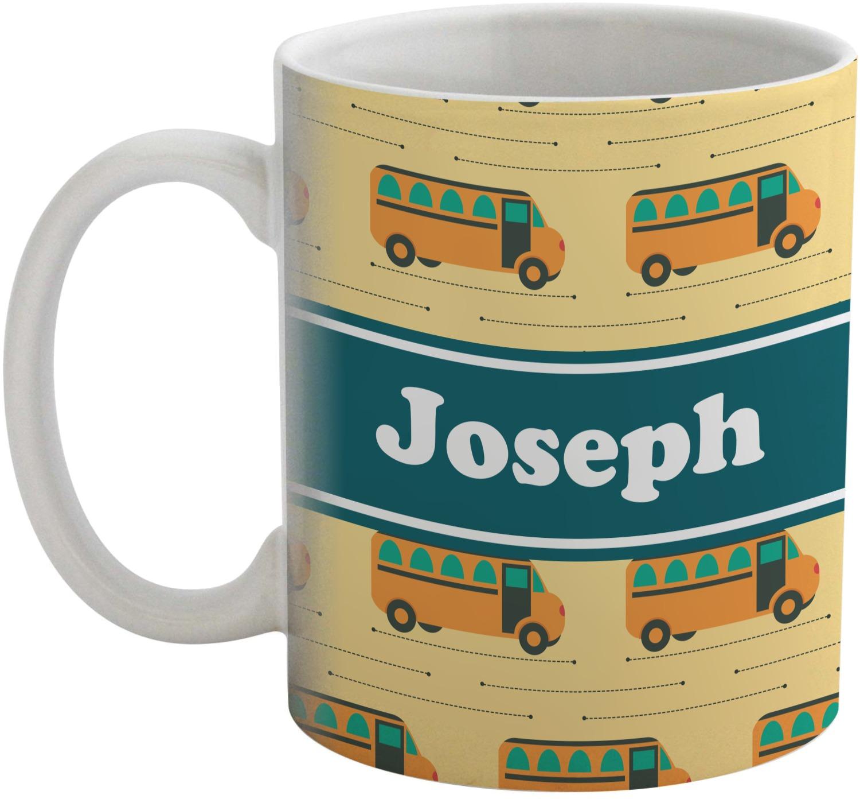 School Bus Coffee Mug Personalized