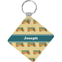 School Bus Diamond Key Chain (Personalized)