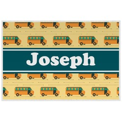 School Bus Laminated Placemat w/ Name or Text