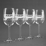 School Bus Wine Glasses (Set of 4) (Personalized)
